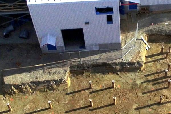 Vue aérienne d'une usine